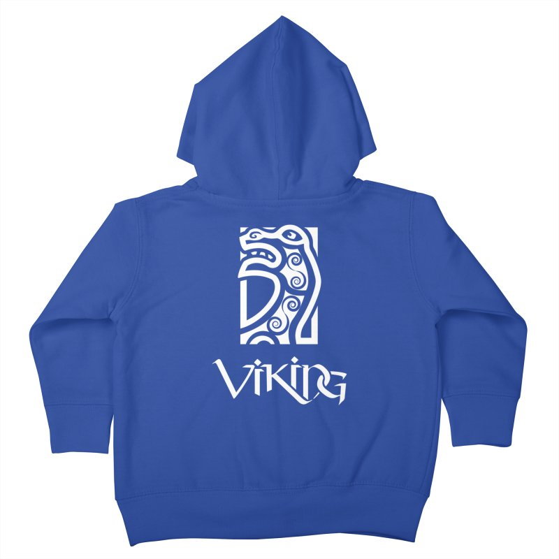 Viking Figurehead Kids Toddler Zip-Up Hoody by Designs by Quicky