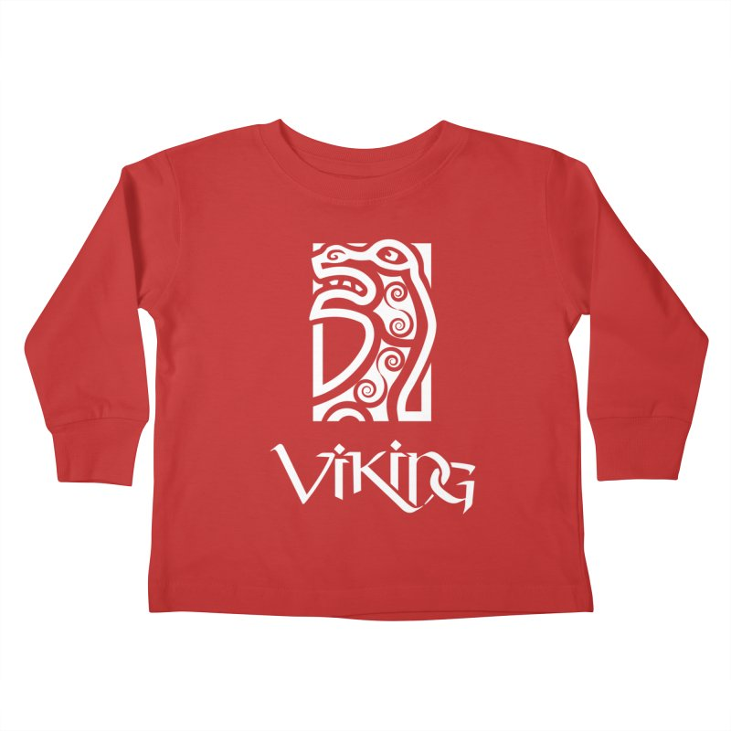 Viking Figurehead Kids Toddler Longsleeve T-Shirt by Designs by Quicky