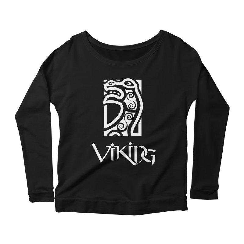 Viking Figurehead Women's Longsleeve Scoopneck  by Designs by Quicky