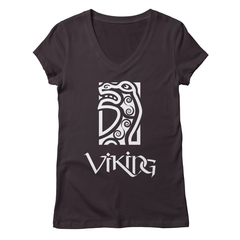 Viking Figurehead Women's V-Neck by Designs by Quicky