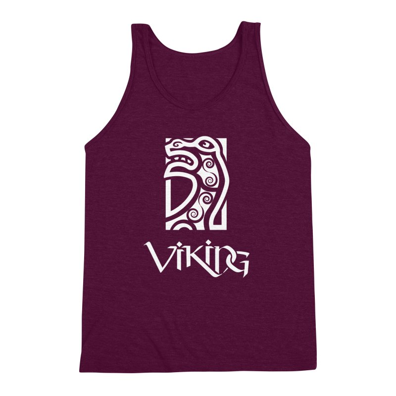 Viking Figurehead Men's Triblend Tank by Designs by Quicky