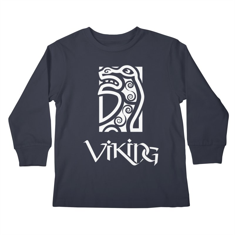 Viking Figurehead Kids Longsleeve T-Shirt by Designs by Quicky