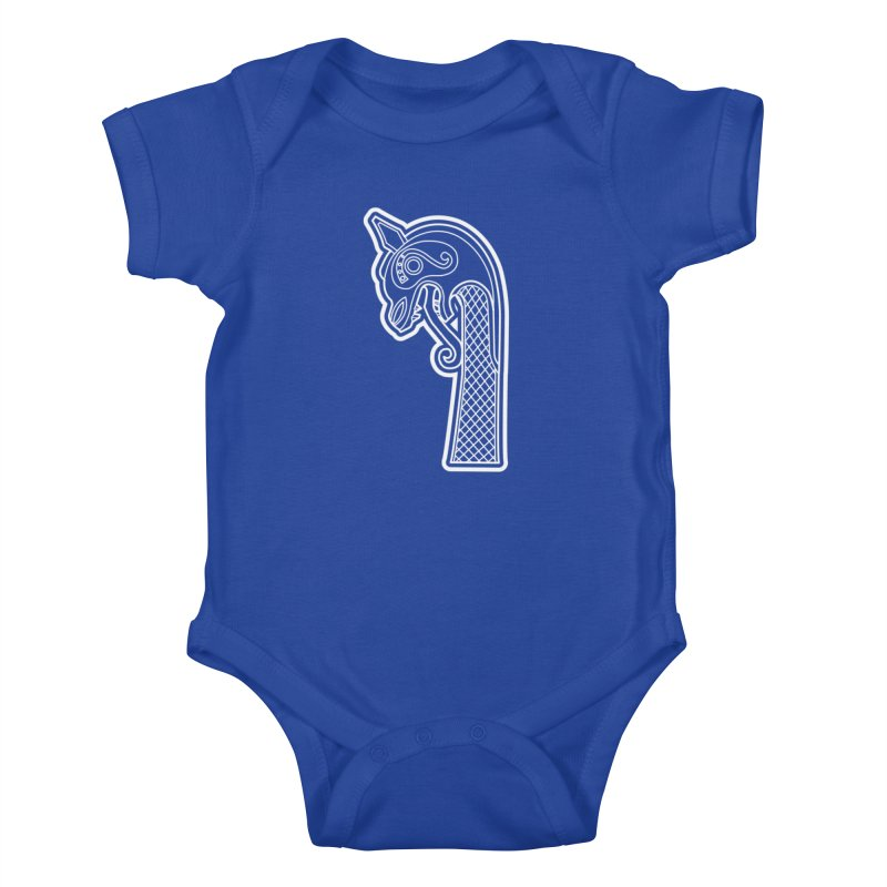 Dragonhead 1 Kids Baby Bodysuit by Designs by Quicky