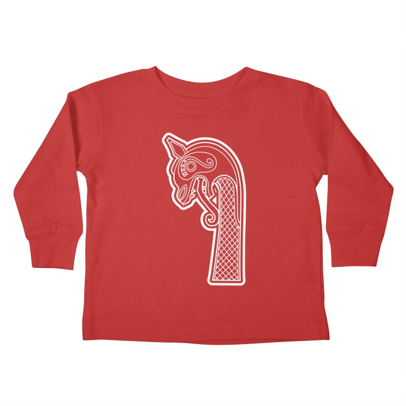 Dragonhead 1 Kids Toddler Longsleeve T-Shirt by Designs by Quicky