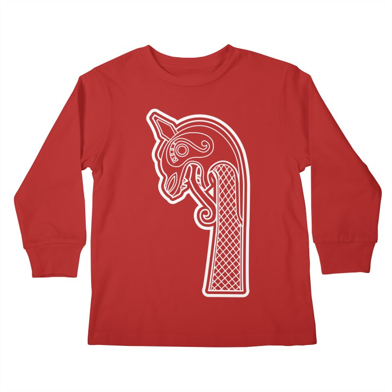 Dragonhead 1 Kids Longsleeve T-Shirt by Designs by Quicky