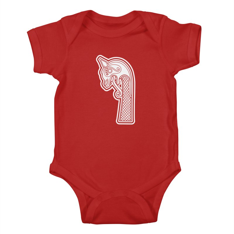 Dragonhead 2 Kids Baby Bodysuit by Designs by Quicky