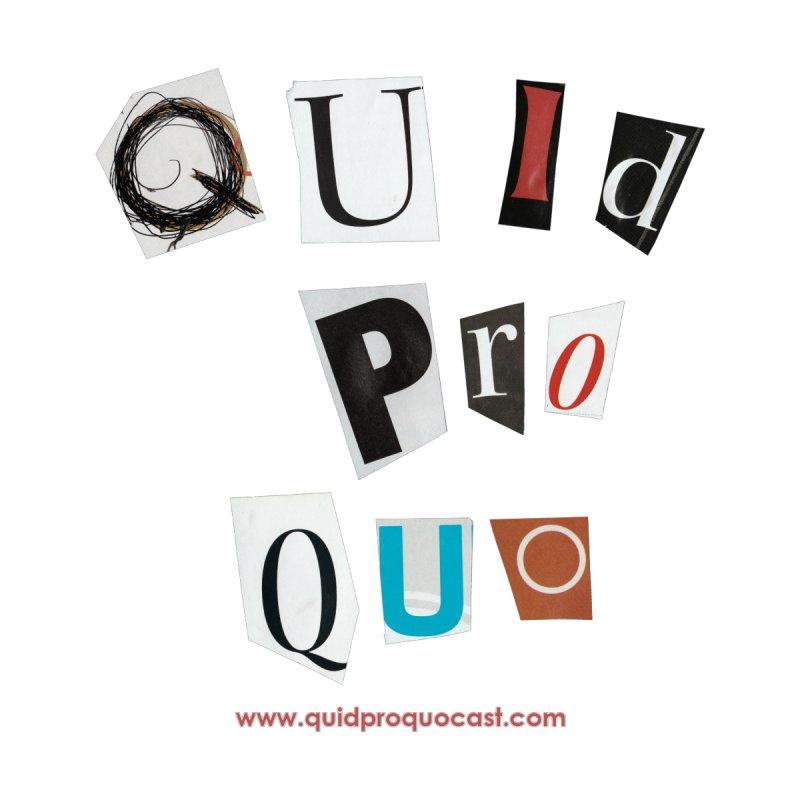 Quid Pro Quo logo art Men's T-Shirt by Quid Pro Quo's Artist Shop