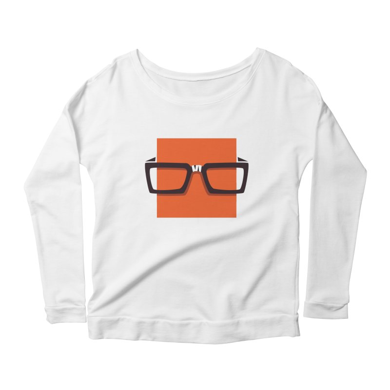SQUARE Women's Longsleeve Scoopneck  by quietcity's Artist Shop