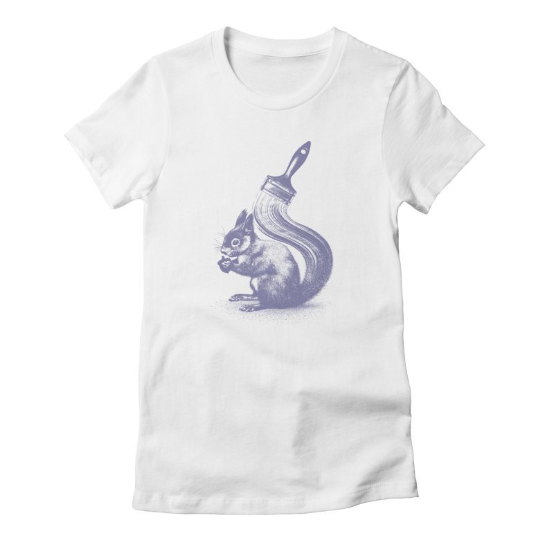 Brush-tailed Women's Fitted T-Shirt by quietcity's Artist Shop