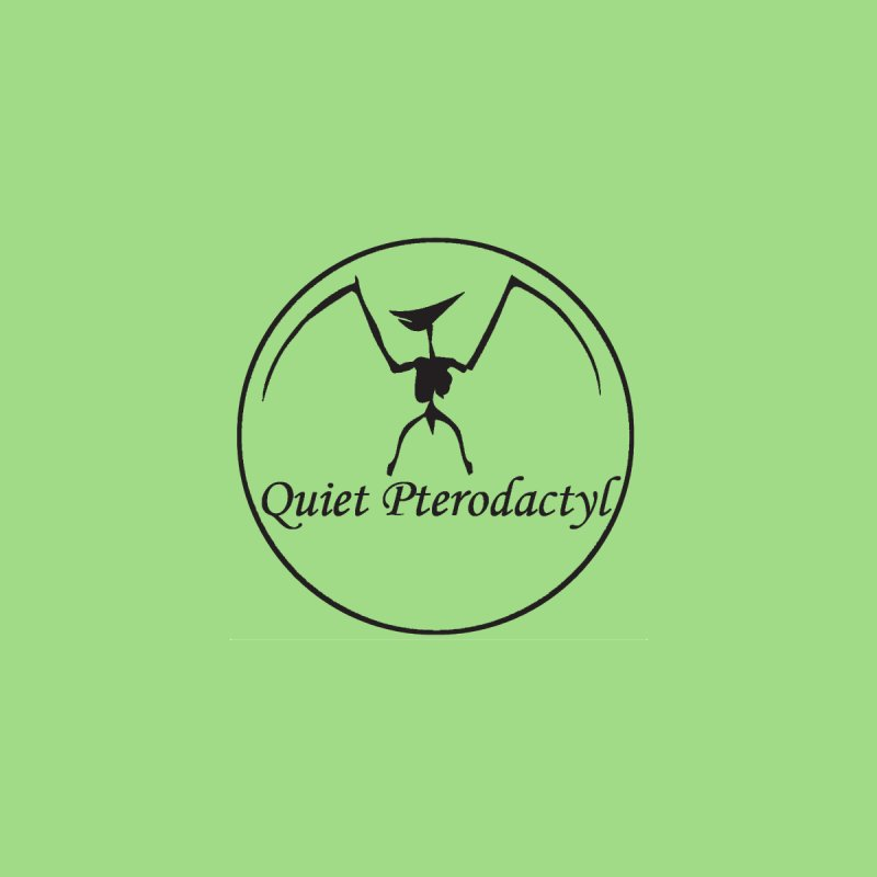 Quiet Pterodactyl Round Logo Black Men's T-Shirt by Quiet Pterodactyl Shop