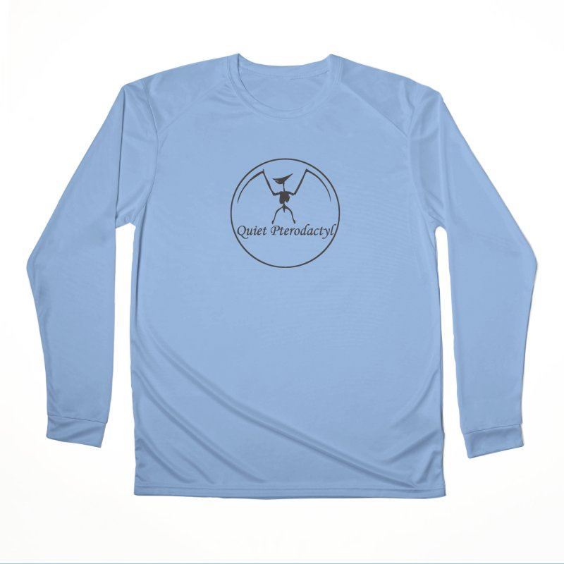 Quiet Pterodactyl Round Logo Black Men's Longsleeve T-Shirt by Quiet Pterodactyl Shop