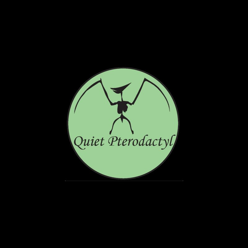 Quiet Pterodactyl Round Logo Green/Black Men's T-Shirt by Quiet Pterodactyl Shop