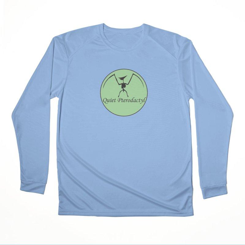 Quiet Pterodactyl Round Logo Green/Black Men's Longsleeve T-Shirt by Quiet Pterodactyl Shop