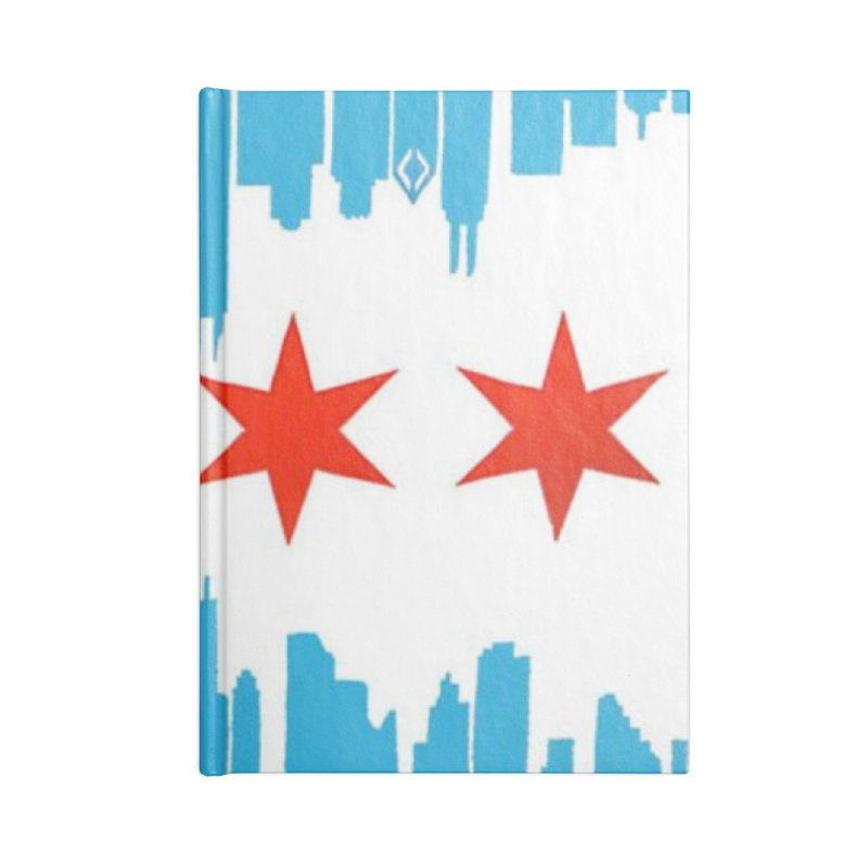 Chicago Flag skyline by Jared Haberman Accessories Notebook by Quiet Pterodactyl Shop