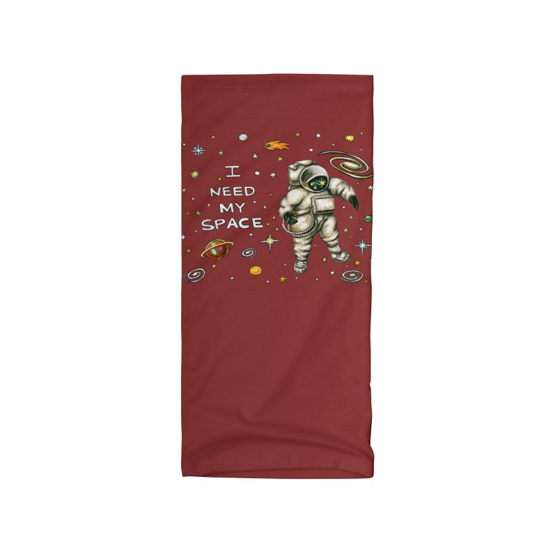 I Need My Space by Jaime Reda Accessories Neck Gaiter by Quiet Pterodactyl Shop