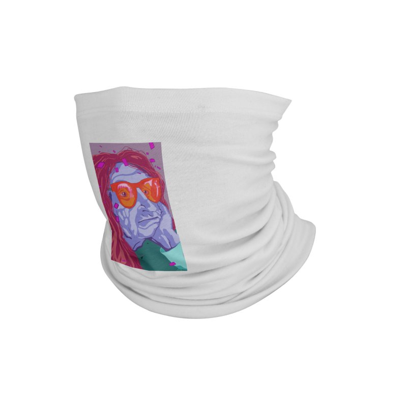Bored at the Strip Club by Steve Nolan Accessories Neck Gaiter by Quiet Pterodactyl Shop