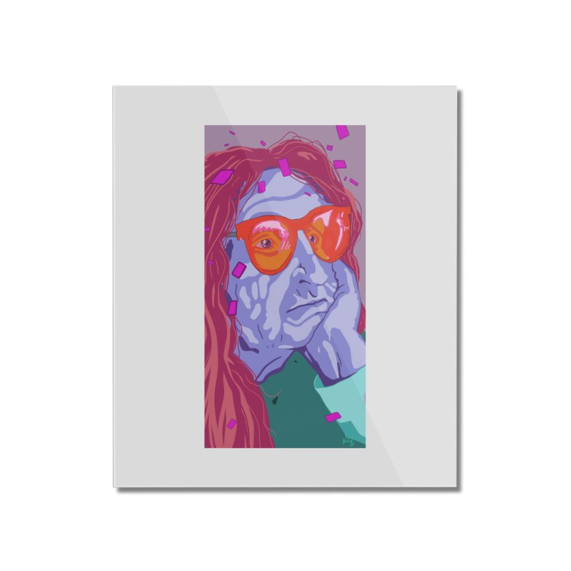 Bored at the Strip Club by Steve Nolan Home Mounted Acrylic Print by Quiet Pterodactyl Shop