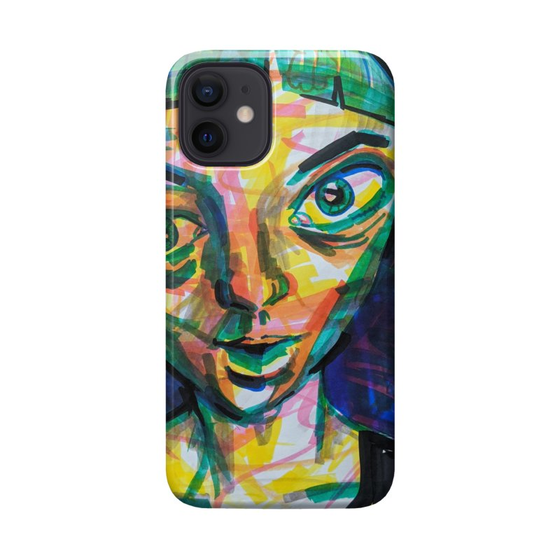 All Portraits are Self Portraits 1 by  Danielle Pontarelli Accessories Phone Case by Quiet Pterodactyl Shop