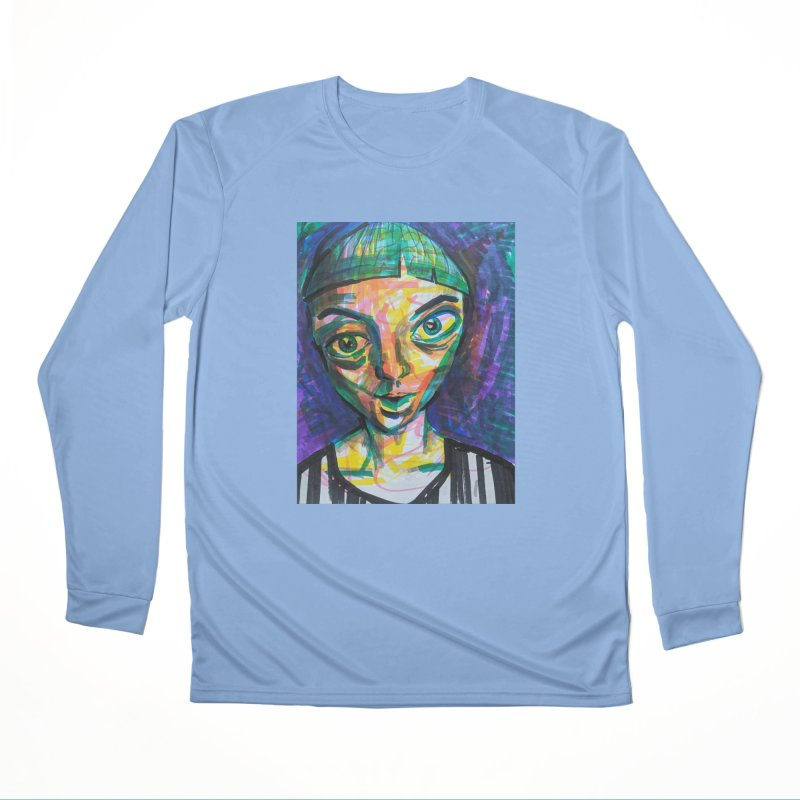 All Portraits are Self Portraits 1 by  Danielle Pontarelli Men's Longsleeve T-Shirt by Quiet Pterodactyl Shop