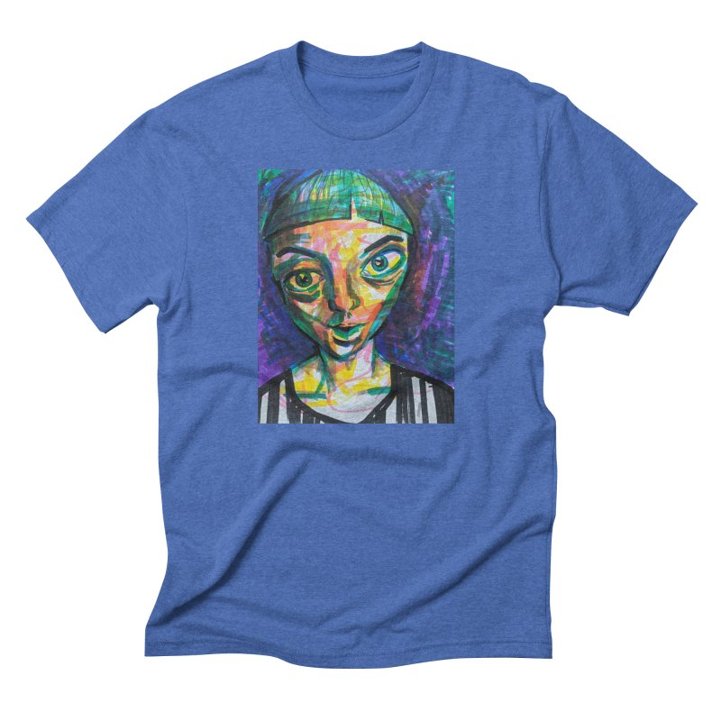 All Portraits are Self Portraits 1 by  Danielle Pontarelli Men's T-Shirt by Quiet Pterodactyl Shop