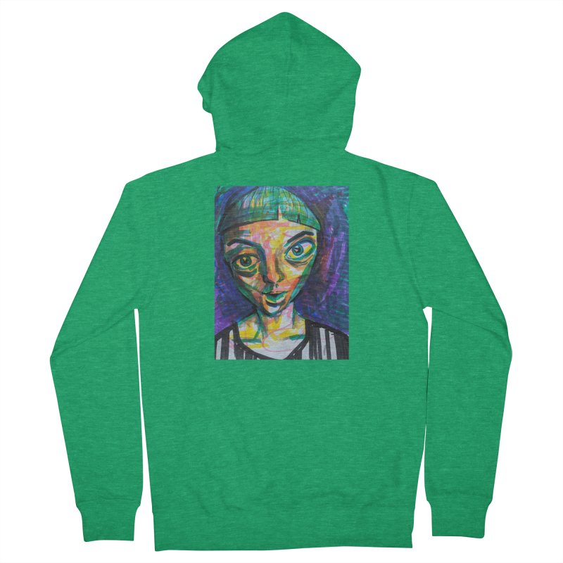 All Portraits are Self Portraits 1 by  Danielle Pontarelli Women's Zip-Up Hoody by Quiet Pterodactyl Shop