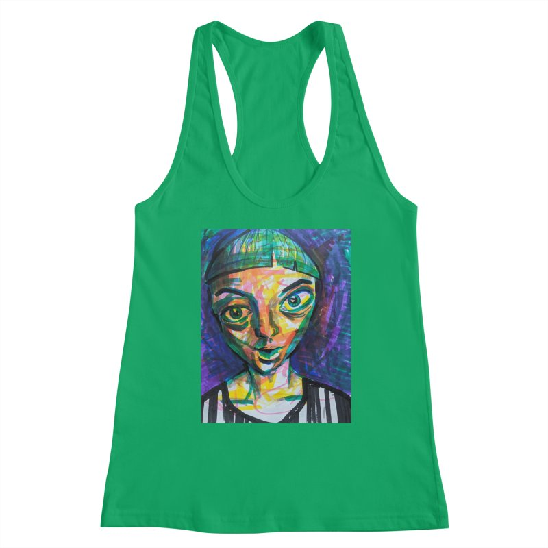 All Portraits are Self Portraits 1 by  Danielle Pontarelli Women's Tank by Quiet Pterodactyl Shop