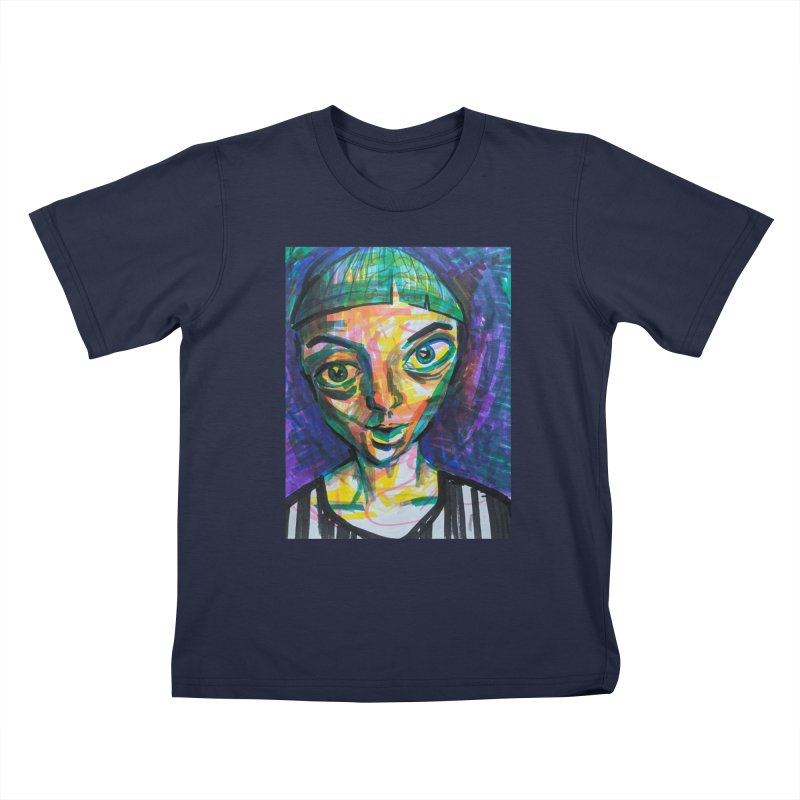 All Portraits are Self Portraits 1 by  Danielle Pontarelli Kids T-Shirt by Quiet Pterodactyl Shop