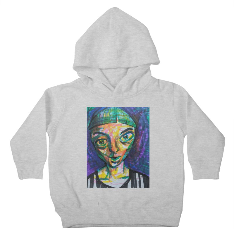 All Portraits are Self Portraits 1 by  Danielle Pontarelli Kids Toddler Pullover Hoody by Quiet Pterodactyl Shop