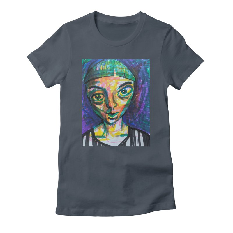 All Portraits are Self Portraits 1 by  Danielle Pontarelli Women's T-Shirt by Quiet Pterodactyl Shop
