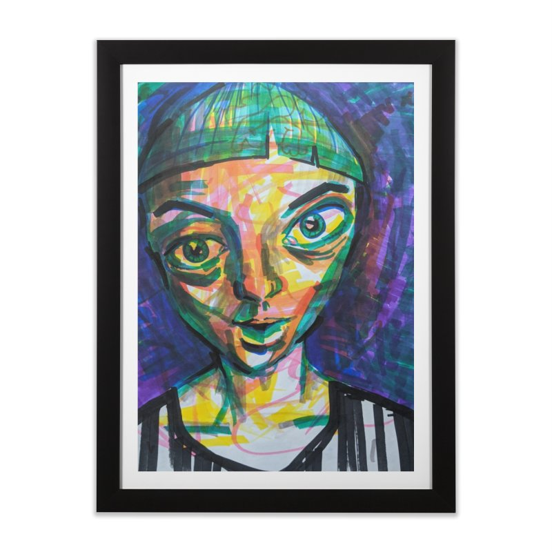 All Portraits are Self Portraits 1 by  Danielle Pontarelli Home Framed Fine Art Print by Quiet Pterodactyl Shop