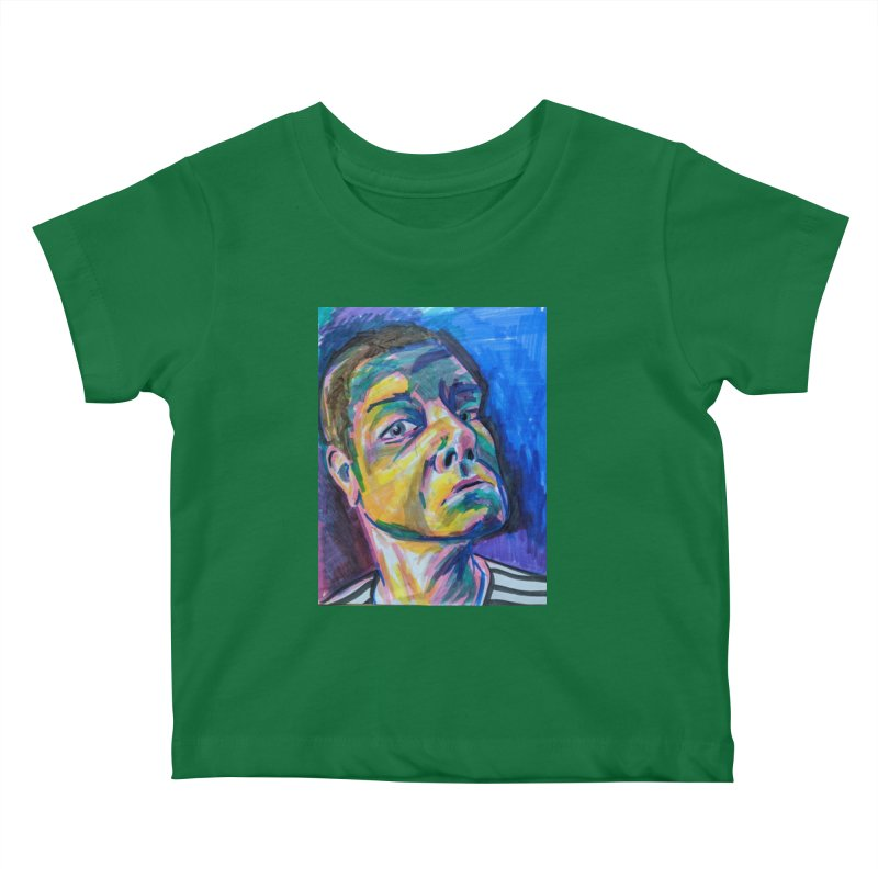 All Portraits are Self Portraits 2 by Danielle Pontarelli Kids Baby T-Shirt by Quiet Pterodactyl Shop