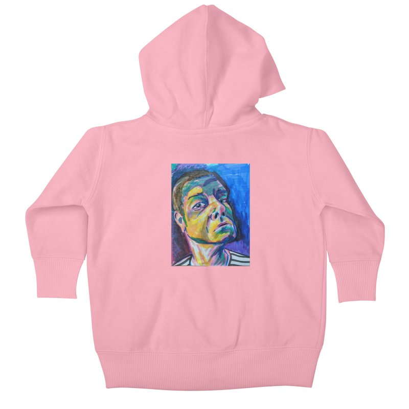 All Portraits are Self Portraits 2 by Danielle Pontarelli Kids Baby Zip-Up Hoody by Quiet Pterodactyl Shop
