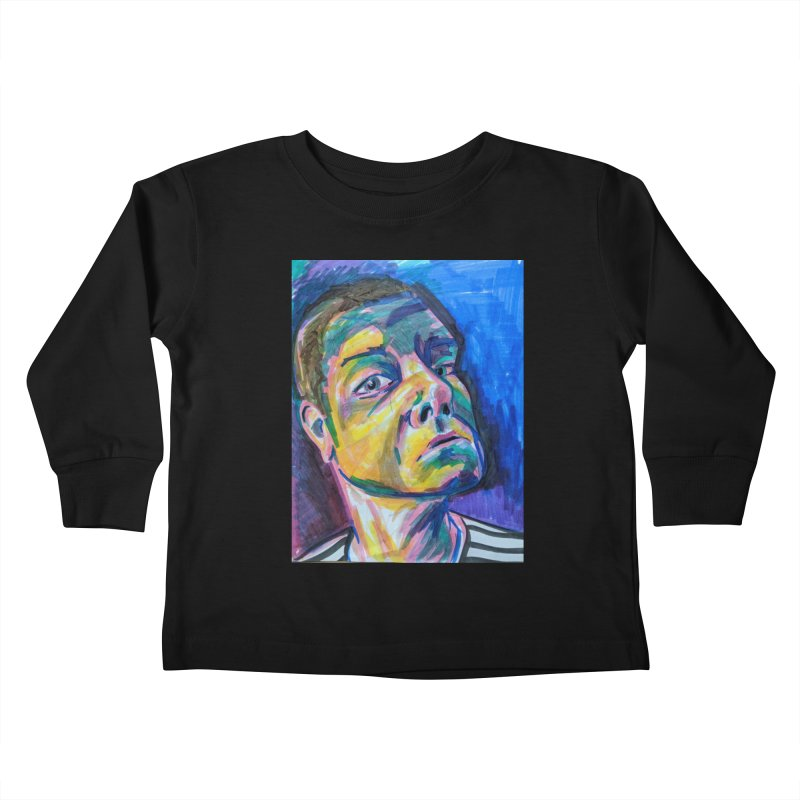 All Portraits are Self Portraits 2 by Danielle Pontarelli Kids Toddler Longsleeve T-Shirt by Quiet Pterodactyl Shop