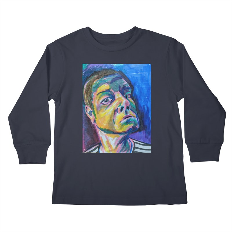 All Portraits are Self Portraits 2 by Danielle Pontarelli Kids Longsleeve T-Shirt by Quiet Pterodactyl Shop