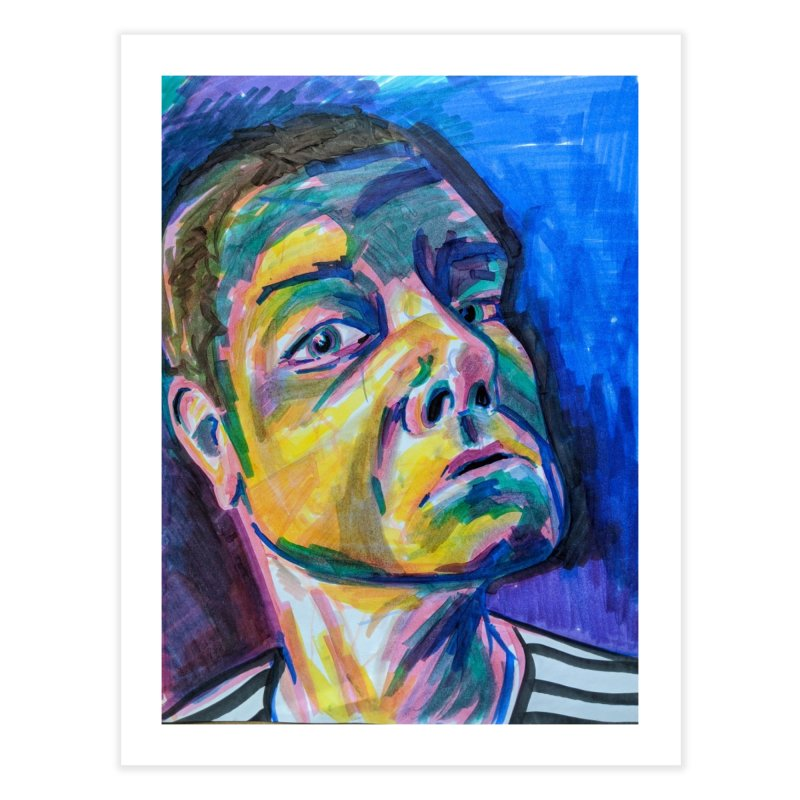 All Portraits are Self Portraits 2 by Danielle Pontarelli Home Fine Art Print by Quiet Pterodactyl Shop