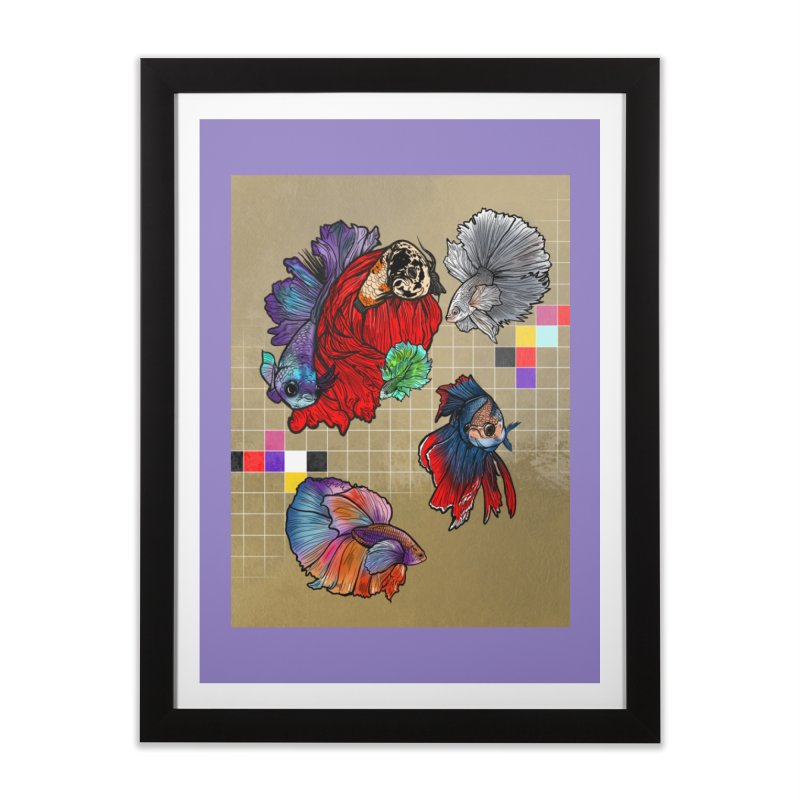 You Need Beta Friends by JazOnVinyl Home Framed Fine Art Print by Quiet Pterodactyl Shop