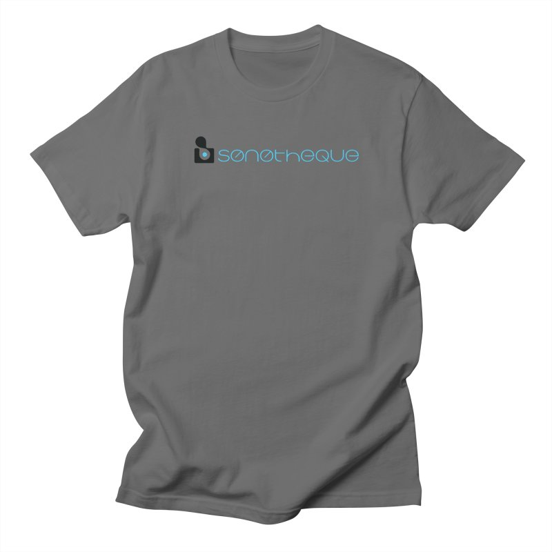 Sonotheque logo (color) by Cody Hudson - Sales END Jan 16th! Men's T-Shirt by Quiet Pterodactyl Shop