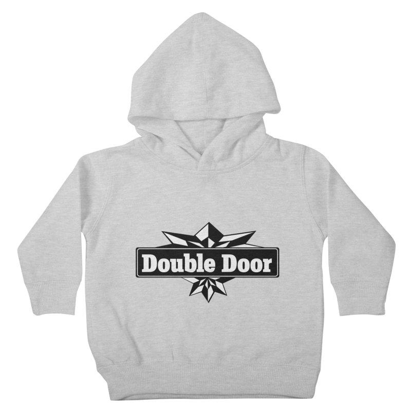 Double Door logo B&W - Sales EXTENDED! Kids Toddler Pullover Hoody by Quiet Pterodactyl Shop