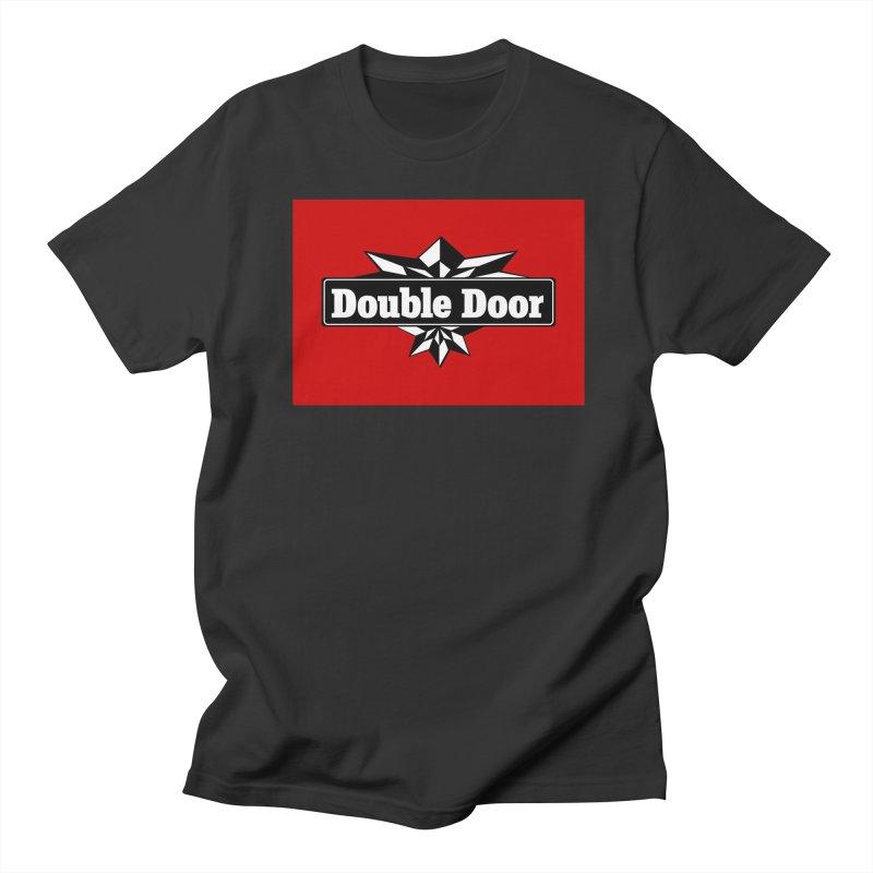 Double Door logo red background - Sales EXTENDED! Men's T-Shirt by Quiet Pterodactyl Shop