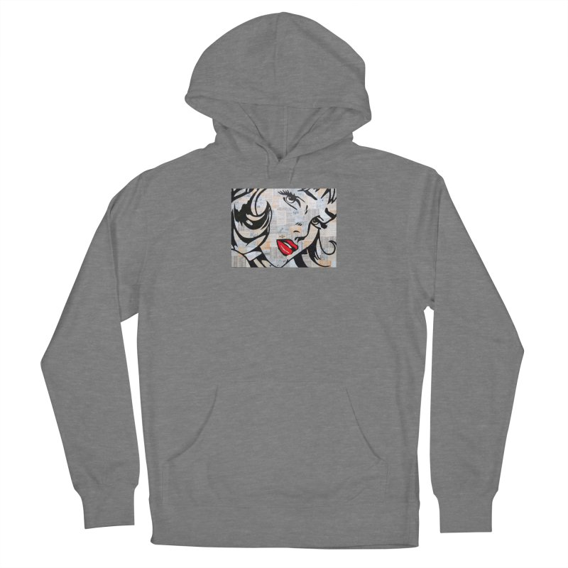 Woman 3 by Jared Haberman Women's Pullover Hoody by Quiet Pterodactyl Shop