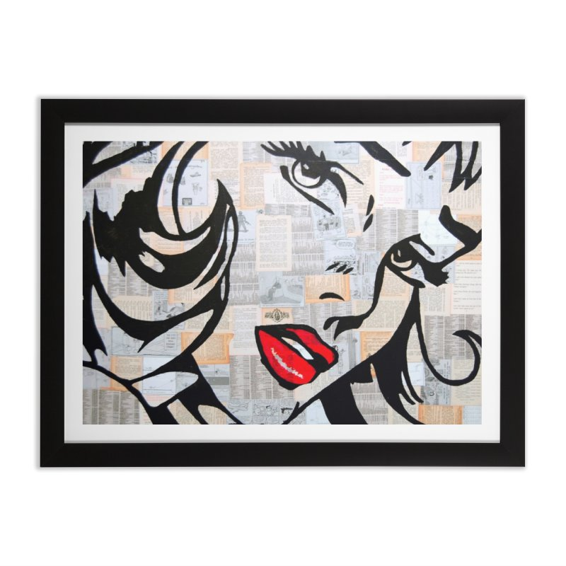 Woman 3 by Jared Haberman Home Framed Fine Art Print by Quiet Pterodactyl Shop