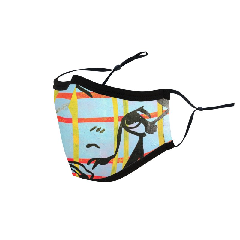 Woman 51 by Jared Haberman Accessories Face Mask by Quiet Pterodactyl Shop