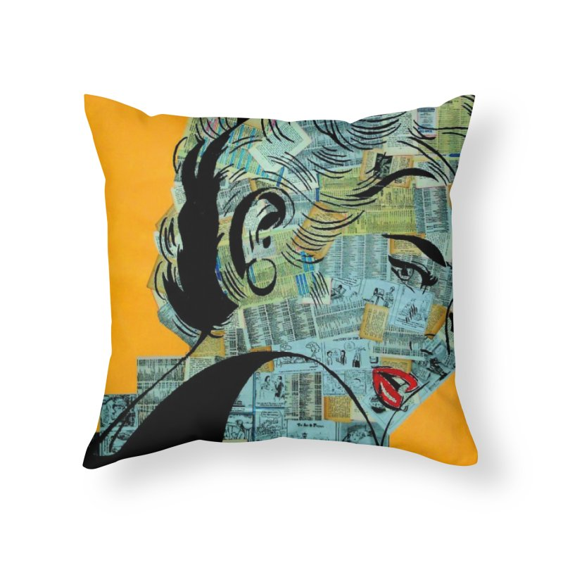Woman 12 by Jared Haberman Home Throw Pillow by Quiet Pterodactyl Shop
