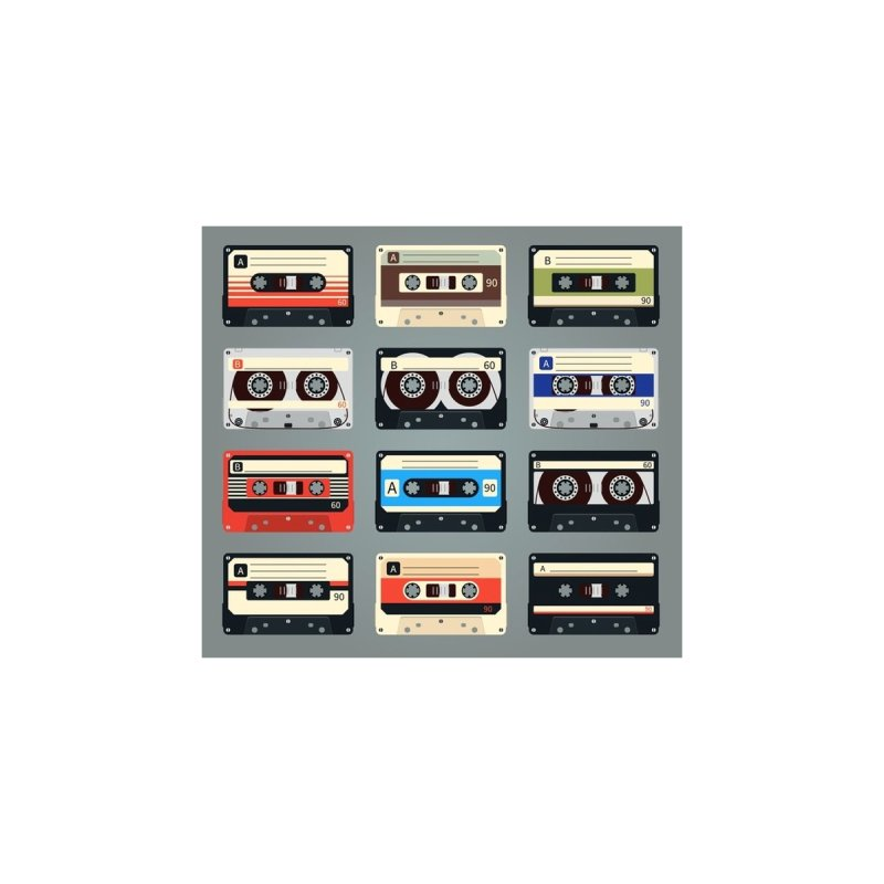 cassettes Home Throw Pillow by Quiet Pterodactyl Shop