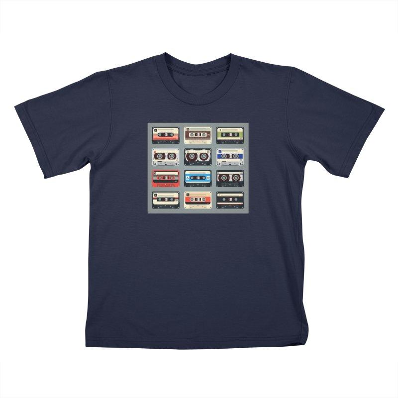 cassettes Kids T-Shirt by Quiet Pterodactyl Shop