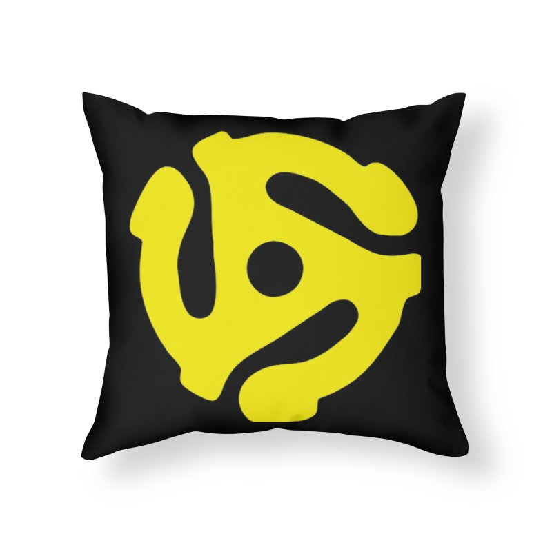 45 Adapter Home Throw Pillow by Quiet Pterodactyl Shop