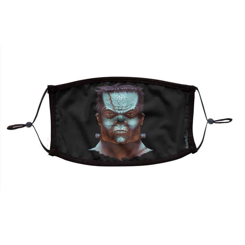 Dia De Monstruos : Frankenstein Accessories Face Mask by QuietYell's Artist Shop