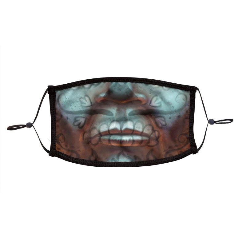 Dia De Monstruos : Frankenstein (Mouth) Accessories Face Mask by QuietYell's Artist Shop