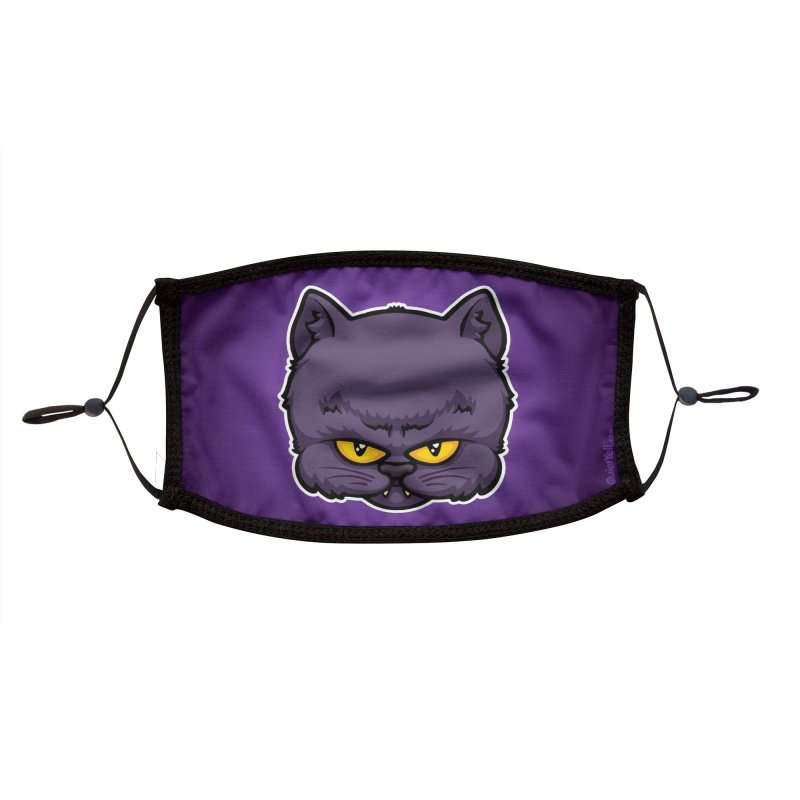 Monsters : Dark Cat Accessories Face Mask by QuietYell's Artist Shop
