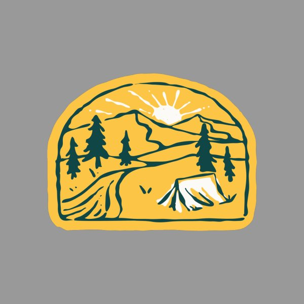 Design for Camp River Hand Drawn